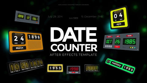 Date Counter After Effects Template