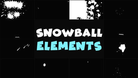 Snowball Elements Apple Motion Template