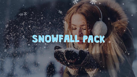 Snowfall Elements Apple Motion Template