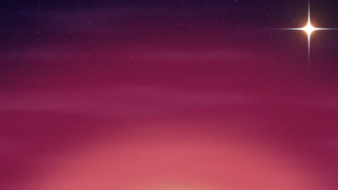 Cartoon animation background with motion stars and moon, abstract backdrop Animation