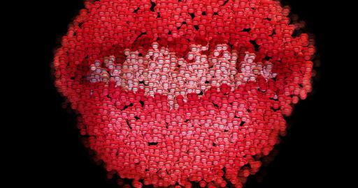 Digital animation of surreal lips Animation
