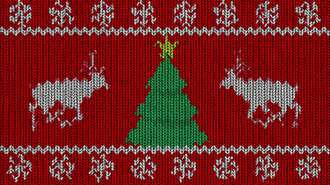 Knitted Holidays Loop Animation