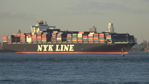 Cargo Ship Or Shipping Freighter Footage