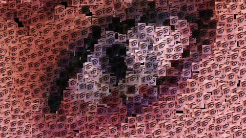 Digital animation of surreal eyes Animation