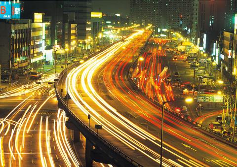 Urban scene in Korea フォト