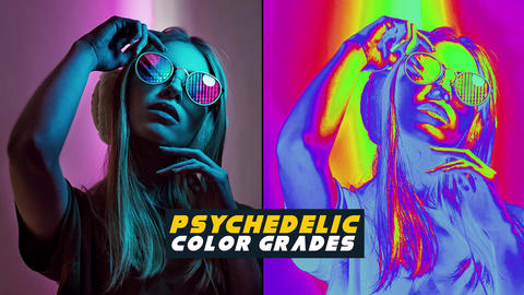 Psychedelic Color Grades Apple Motion Template
