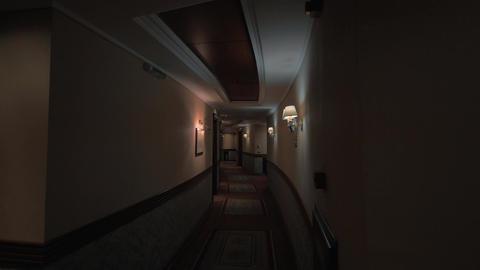 Hotel hallway in dim light Footage