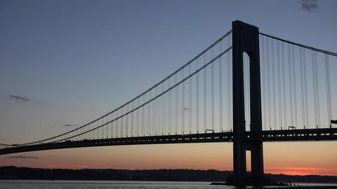 Suspension Bridge At Night Live Action