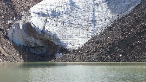 Glacier Lake Sparkles 4K Footage