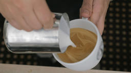Making coffee with cream picture Live Action