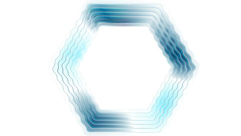 Blue glossy rippling hexagon tech video animation Animation