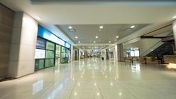 Hyperlapse of walking inside airport in Seoul, South Korea Footage