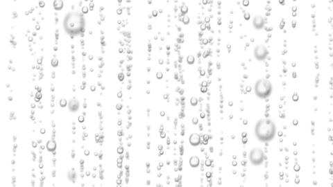 Beautiful 3d Animation of Water Bubbles Rising Up. Loopable Sparkling Water on W Animation