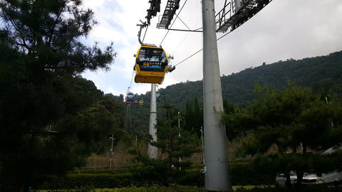 Cable car station of Yuchi bottom view Footage