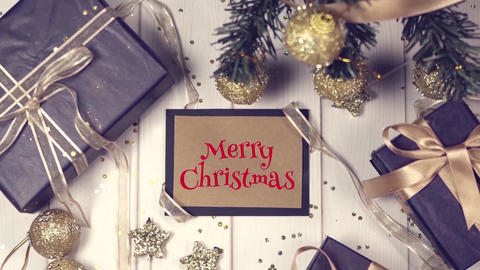 Gold Christmas Slideshow After Effects Template