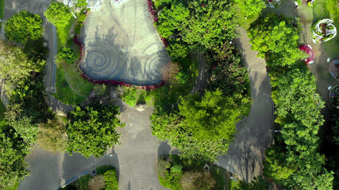 Aerial photography, Taiwan, city park, New Taipei City, Yonghe, urban architecture Live Action