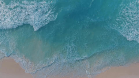 Coast as a background, aerial top view. Turquoise water background from top view Live Action
