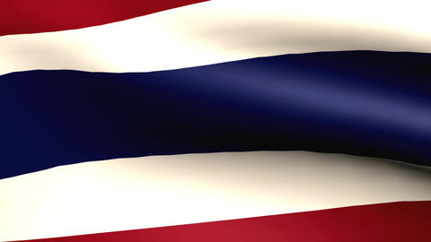Flagge Thailand Animation