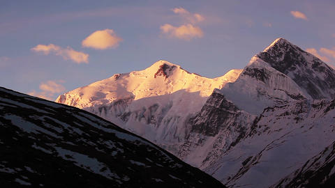 Annapurna Peak Sunrise Time Lapse HD Animation