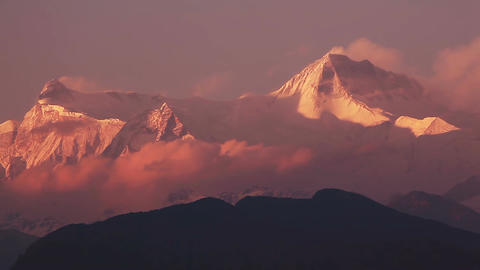 Annapurna Peak Sunset Time Lapse HD Animation