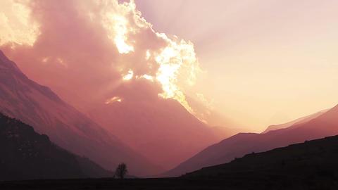 Himalaya Sunset Time Lapse Animation