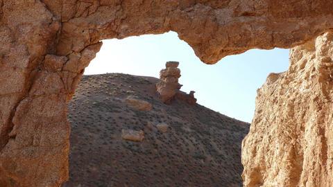 Charyn Canyon Rocks 4K Footage
