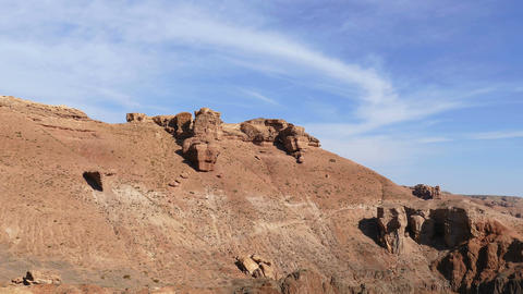Charyn Canyon Rocks 4K Animation
