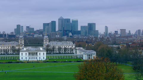 View of downtown London Footage