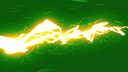 Lightning Strikes / Green screen background / Loop animation Animación