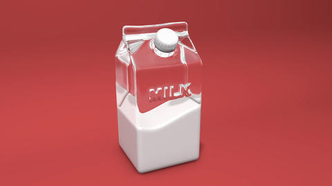 Liquid cow Milk drink dairy drink box drink glass milk carton dairy carton box carton milk package Animation