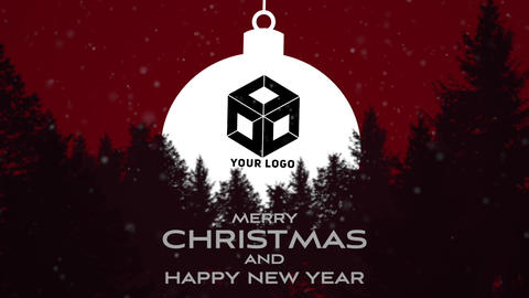 Christmas and new year logo Apple Motion Template
