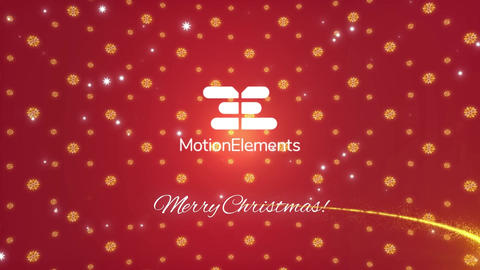 Glitter Particles Logo Reveal Christmas After Effects Template