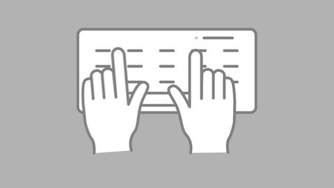 Typing keyboard line icon on the Alpha Channel Animation