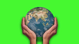 Globe In The Palm - Green Screen Animation Animation