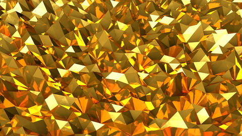Abstract seamless gold triangular crystalline background animation. Seamless loo Animation