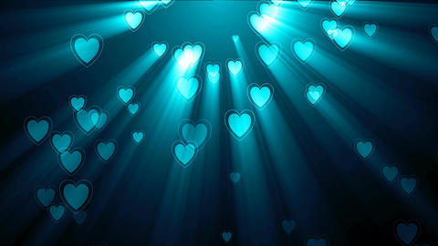 Animated glowing Hearts. Seamless loop Animation