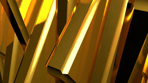 Abstract background of rotation gold steel boxes with reflecting. Animation of s Animation