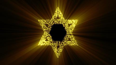 Star of David animated. Seamless loop Animation