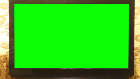 Widescreen HDTV with Green Screen. Home Animation