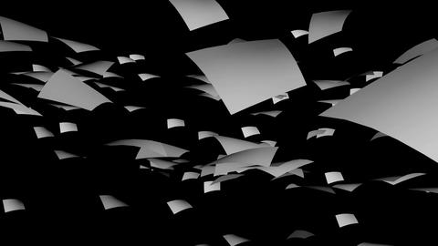 White paper falling on background Animation