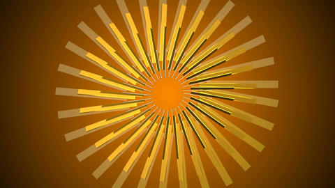 Abstract gold element. Seamless loop Animation