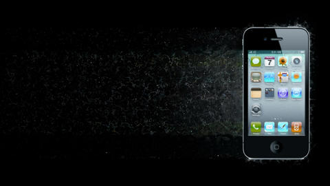 Smartphone dispersion. 3d Rendered. Just add your title, text, wishes or logo Animation