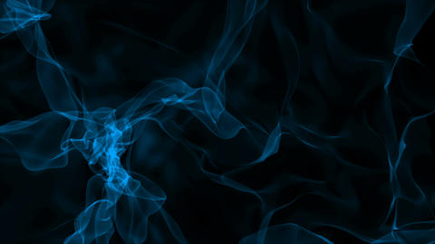 Realistic smoke on black background. Computer graphic Animation