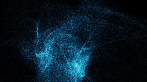 futuristic video animation with particle object. Dispersion Animation