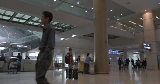 Terminal in Seoul airport, South Korea Footage
