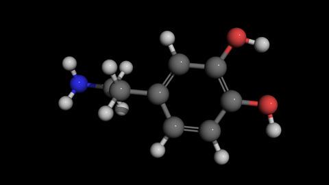 dopamine molecule model rotating Stock Video Footage