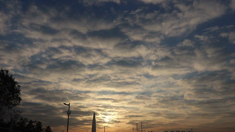 seoul han-river morning sky Footage