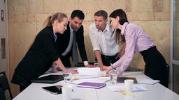 Business team having discussion at table in office Footage