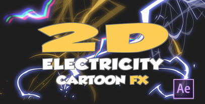 Cartoon Electricity After Effects Projekt