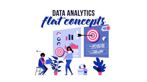 Data analytics - Flat Concept After Effects Template